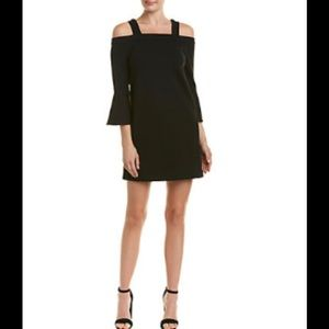 NWT OLIVACEOUS OFF SHOULDER SHIFT DRESS BLACK SZ M